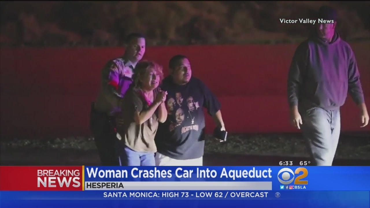 Woman Dies After Car Crashes Into Aqueduct In Hesperia