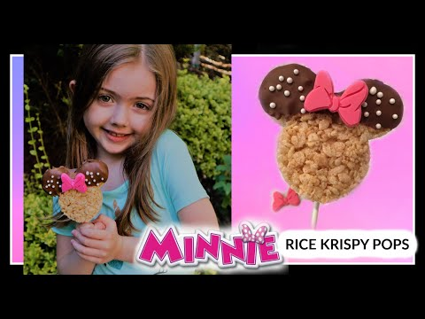 Minnie Mouse Rice Krispy Pops | Quick and Easy Treats for kids!