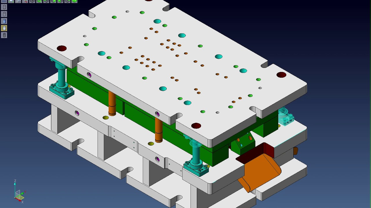 VISI 스틸 프레스 금형 3D설계를 2D 변환 및 설변시 연동 수정 및 2D 자동 변환