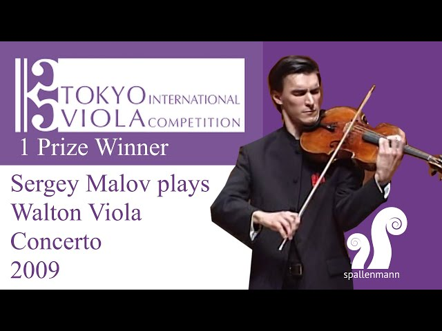 Sergey Malov plays Walton Viola Concerto winning the 1st Prize at Viola Space Competition Tokyo 200
