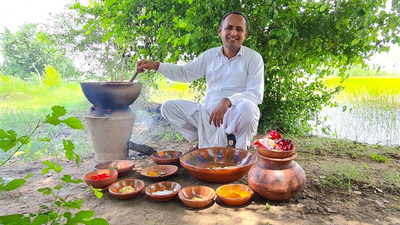 Arvi Masala Recipe by Mubashir Saddique | Punjabi Arbi Ka Salan | Village Food Secrets