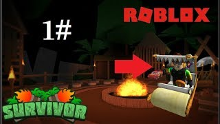 We're playing Robinson island in a car of a flintstouns??????!!!!!! Roblox Survivor (1st episode)