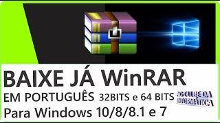Como baixar e instalar WinRAR 5.40 BR  32 bits e 64 bits Windows 10