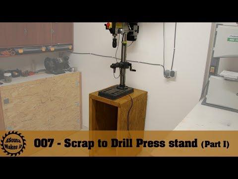 Scrap to Drill Press stand Part I