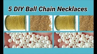 5 DIY ball chain necklaces making at home