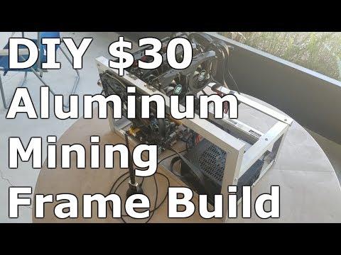 DIY Aluminum Mining Rig Frame