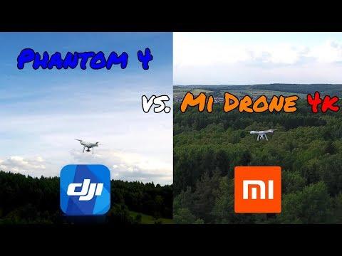 DJI Phantom 4 Vs. Xiaomi  Mi Drone 4K - 4K