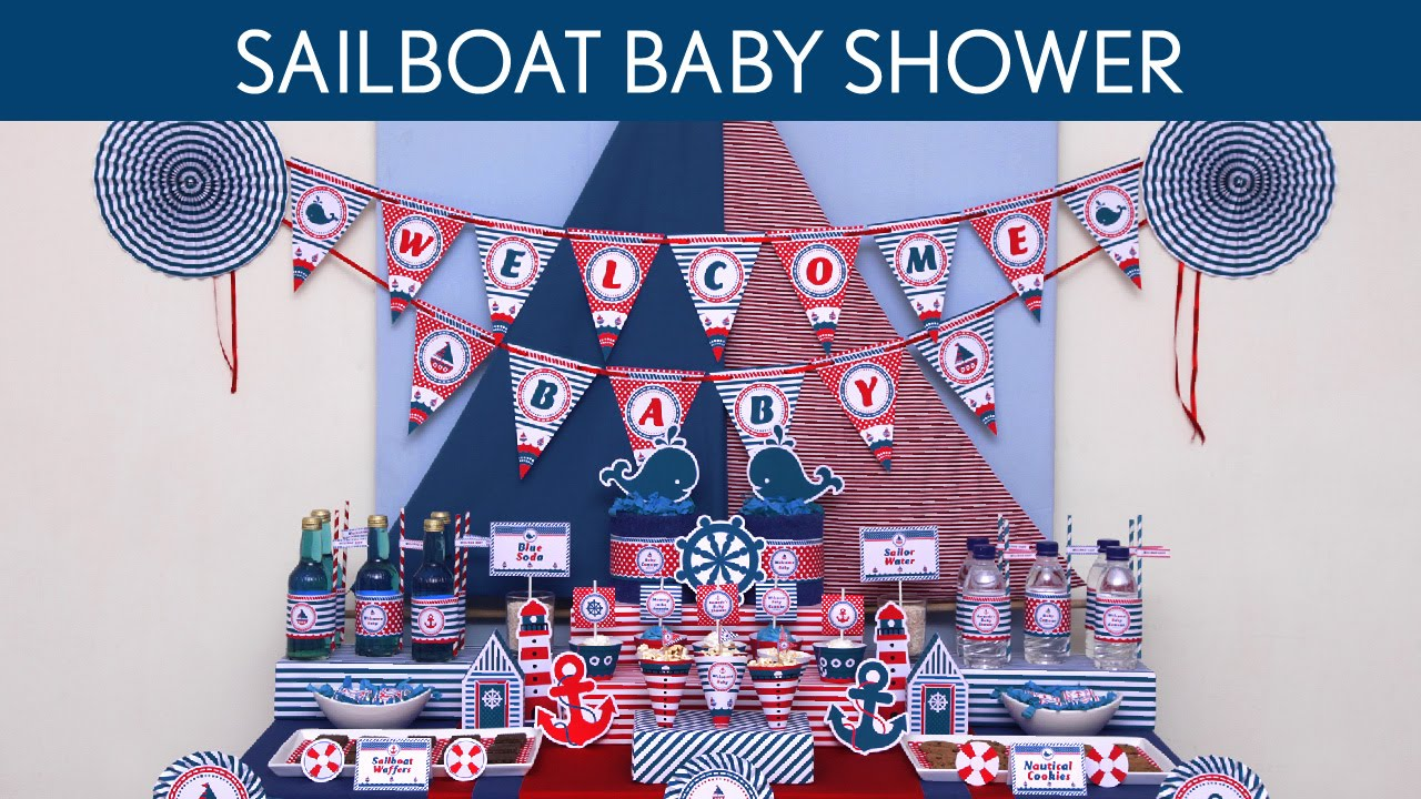 Baby Shower Ideas Sailor sailboat baby shower ideas // sailboat - s42 - youtube