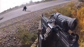 Taliban Ambush From a Machine Gunner
