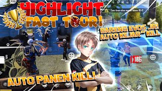 HIGHLIGHT + MIC CHECK ANAK-ANAK EVOS JR! 1 MATCH TOSON 2 MATCH BOOYAHH! AUTO PANEN KILL DI FAST TOUR