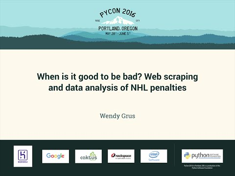 Wendy Grus - When is it good to be bad? Web scraping and data analysis of NHL penalties - PyCon 2016