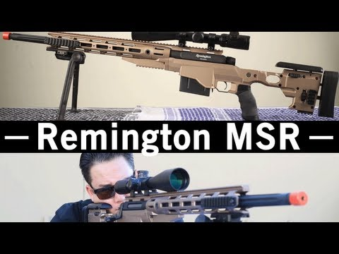 Airsoft GI - Remington MSR Spring Sniper Rifle OEM by ARES Gun Review