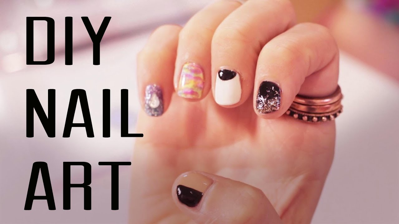Easy diy nail art step by step guide to glamour nails youtube solutioingenieria Gallery