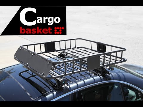 Rooftop Box Basket Cargo Carrier Installation Guide by LT Sport RCB-508