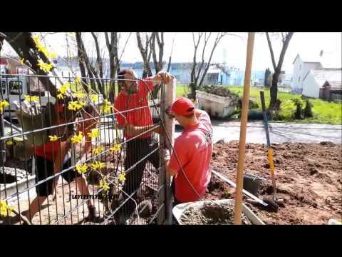 Baumefallen Bis Doppelstabmattenzaun Bauen Setzen Youtube