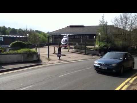 air ambulance at dartford station