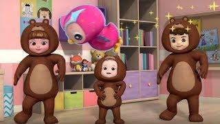 Развивающие песенки - КОНСУНИ: Три медведя + Ресторан - теремок песенки для детей