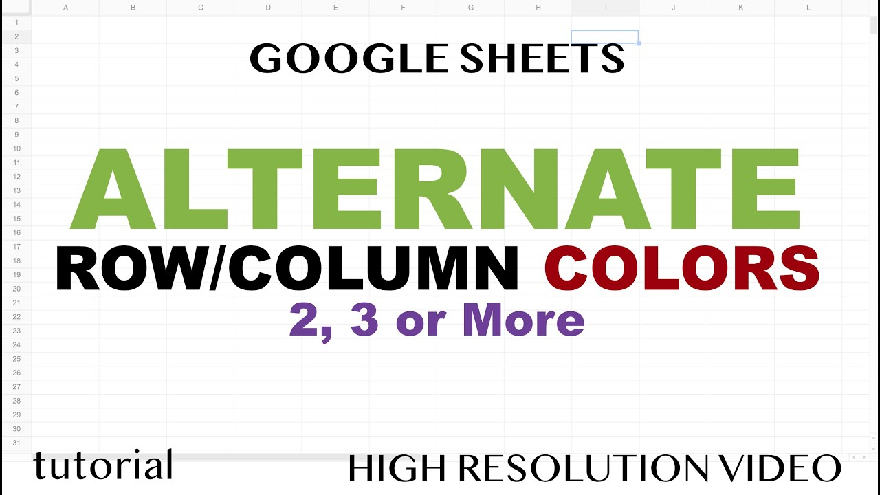 Alternate Colors by Row or Column, Basic to Advanced Formatting in Google Sheets