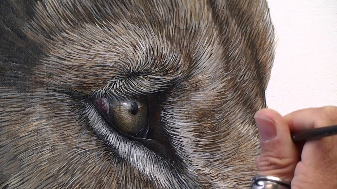 Making of Gracious | a painting by Marcel Witte - YouTube for Lion And Lamb Painting  103wja