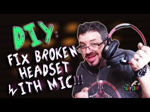 DIY HOW TO FIX A BROKEN HEADPHONES OR GAMING HEADSET WITH MIC