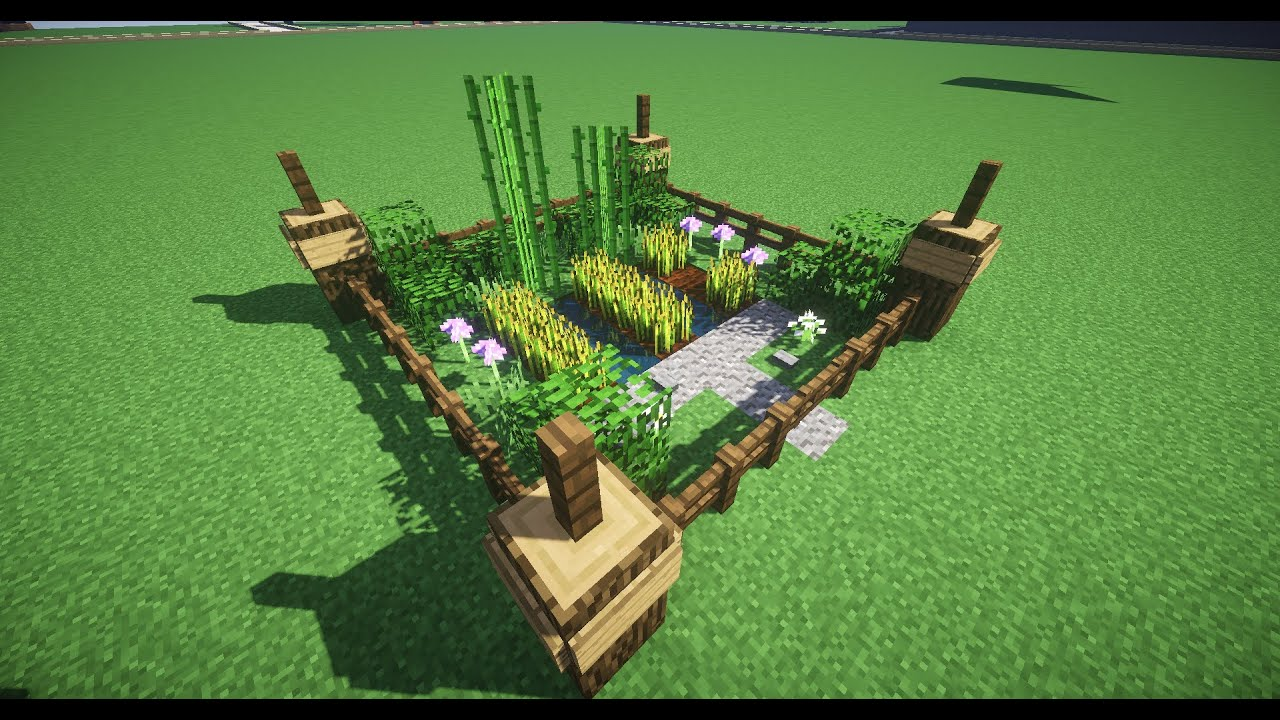 how to build a small garden in minecraft