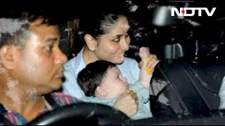 Kareena and taimur at tusshar's son's first birthday