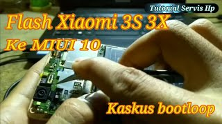Cara flash xiaomi redmi 3X 3S metode test point
