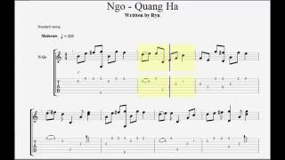 Guitar Tab - Ngỡ (Quang Hà)