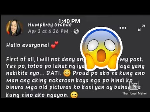 Download Humphrey Grande Kumpirmadong dating isang Lalake!!!