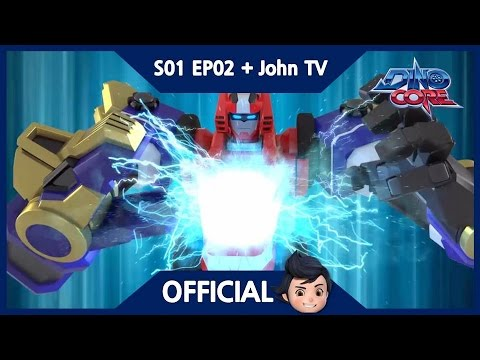[Official] [Eng Sub] DinoCore & John TV | We're Dino Warriors! | 3D | Season 1 Episode 2