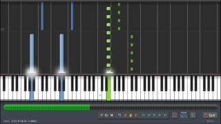 "Fly - Ludovico Einaudi ""Intouchables"" Piano Tutorial (50%) Synthesia"