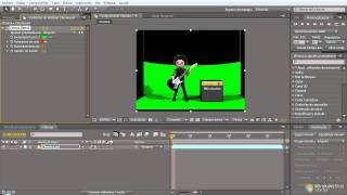Greenscreen effect scene   After Effects