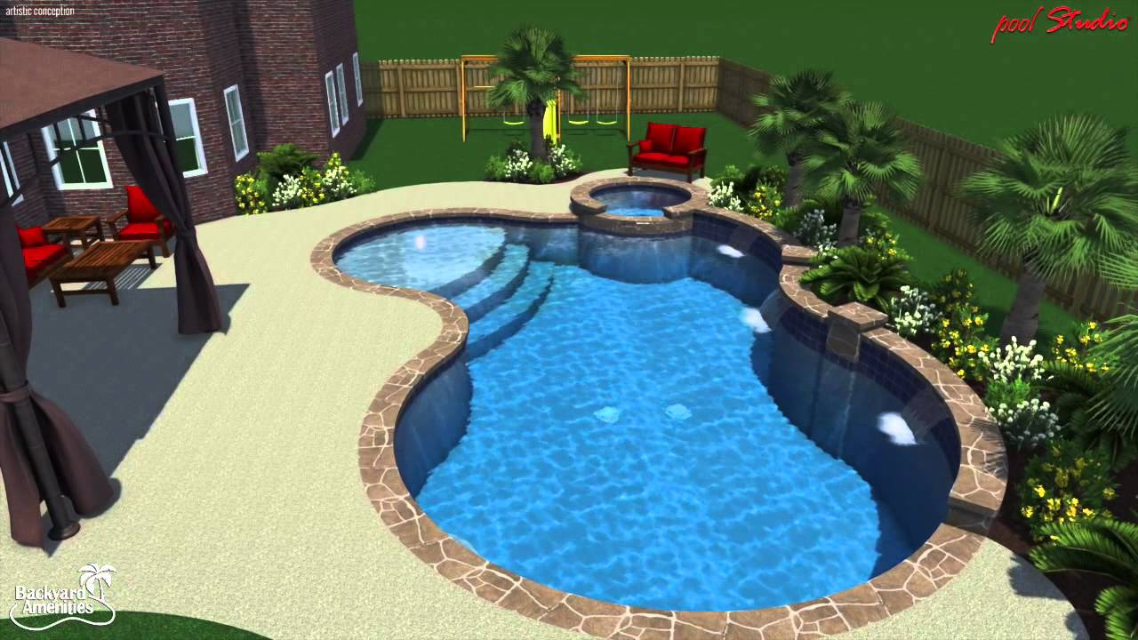 Bade pool backyard amenities youtube for Badepool aufblasbar