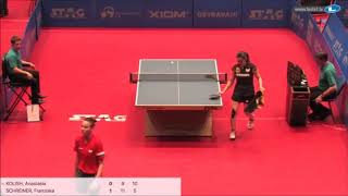 Анастасия Колиш vs Franziska Schreiner (GER) | European Youth Championships 2019 (final)