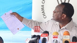 Mbowe Avujisha Siri ya Uchaguzi Ukonga, aanika makaratasi yote