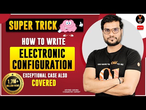 Super Trick | How To Write Electronic Configuration | Exceptional Case Also Covered