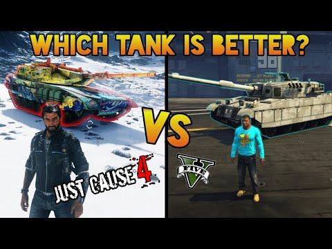 Just Cause 4 TANK Vs.  GTA 5 TANK (Warchief Assault Tank vs. Rhino) |