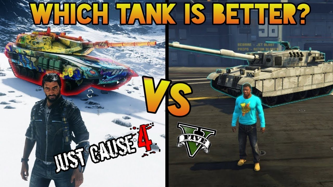 Just Cause 4 TANK Vs. GTA 5 TANK (Warchief Assault Tank vs ...