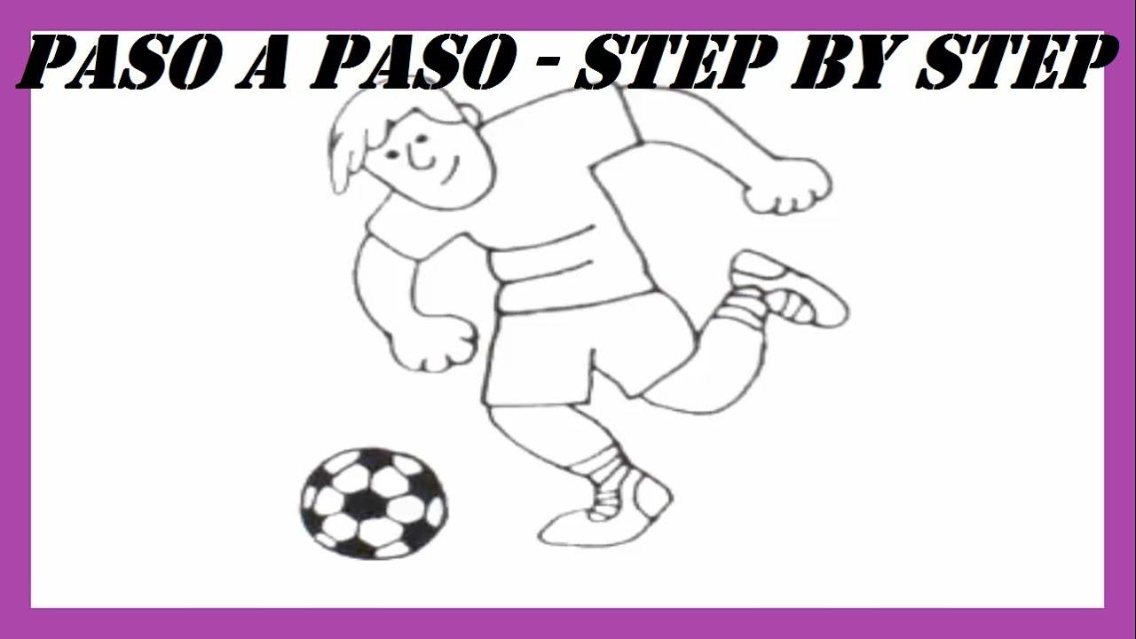 Como dibujar un Jugador de Fútbol Profesional l How to draw a ...