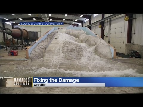 Model Replica Helping Oroville Dam Spillway Reconstruction Project