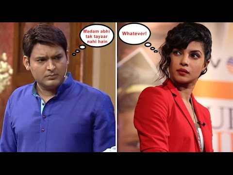 Comedian Kapil Sharma Angry With Bollywood Actress Priyanka Chopra