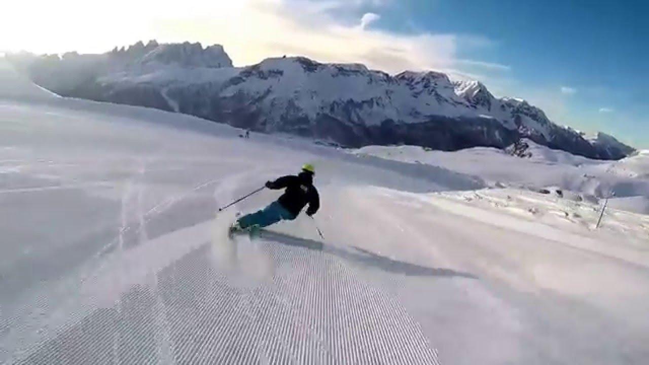 Ski carving skiing head passo san