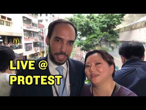 IN HONG KONG 2: Chris and Shelley at HUGE Protest  China Uncensored