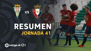 Resumen de Córdoba CF vs CA Osasuna (2-3)