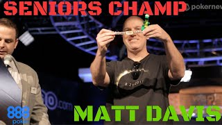 World Series of Poker Seniors Event Winner: Matt Davis