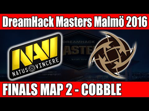 Natus Vincere vs NIP | Grand Finals Map 2 (Cobblestone) DreamHack Masters Malmö 2016