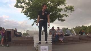 супер гибкость в Парке Горького super stretching in Gorky Park