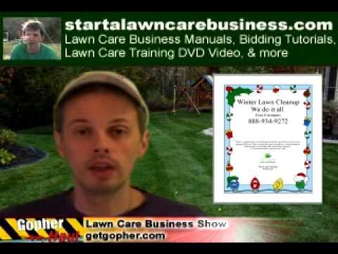 GopherHaul 17 - Winter Lawn Care Business Marketing Ideas