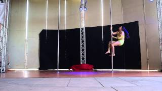 Jennifer F. - Advanced - Performance at Epic Pole Dance Competition 2015