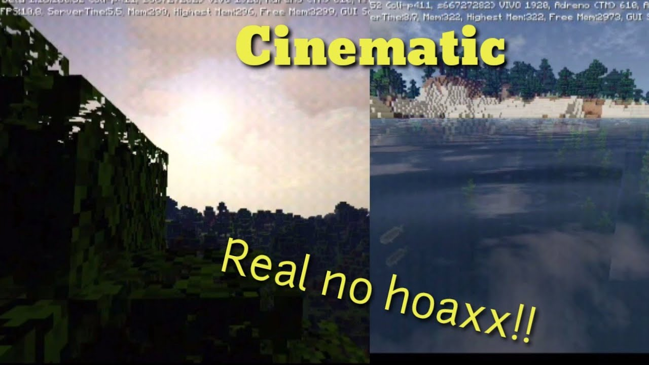 Best Cinematic Shaderss pe!!!!For Ram 11Gb(Minecraft Indonesia